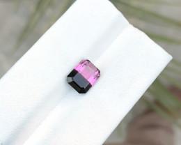 HGTL CERTIFIED 2.81 Ct Natural Bi Color Transparent Tourmaline Ring Size Ge