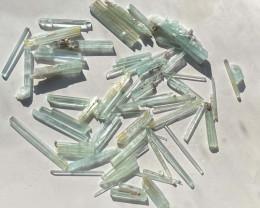 Aquamarine crystals