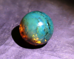 Biggest 20.5mm Natural Clear Cognac Blue Amber .925 Sterling Silver Sphere