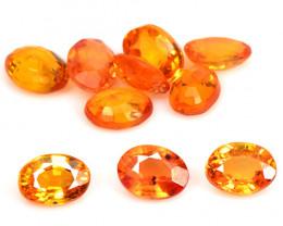 2.04 Cts 10 Pcs Amazing Rare Natural Fancy Orange Sapphire Loose Gemstone
