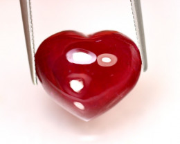 Ruby 15.08Ct Heart Shape Cabochon Madagascar Blood Red Ruby DR532/A20