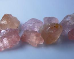 52 Cts Natural - Unheated Pink Morganite Rough Lot
