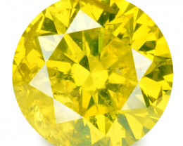 0.23 Cts Sparkling Rare Fancy Vivid Yellow Color Natural Loose Diamond