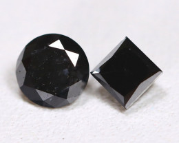 Black Diamond 0.65Ct 2Pcs Natural Fancy Diamond B5534