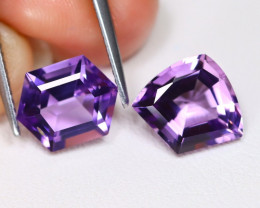 Amethyst 4.98Ct 2Pcs Fancy Cut Natural Purple Amethyst AB5535