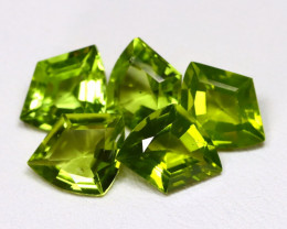 Peridot 7.69Ct Shield Cut Natural Neon Green Peridot Lot AB5539