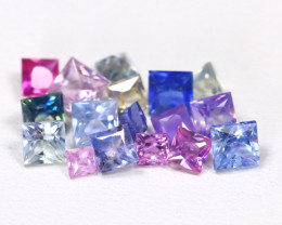 2.23Ct Princess Natural Untreated Fancy Color Sapphire Lot B5473
