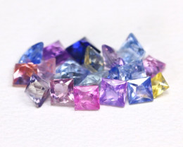 2.45Ct Princess Natural Untreated Fancy Color Sapphire Lot B5474
