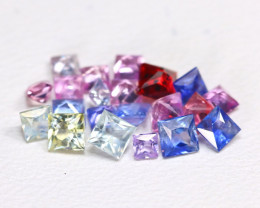 2.37Ct Princess Natural Untreated Fancy Color Sapphire Lot B5475
