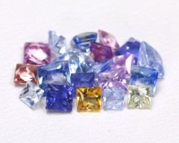 2.17Ct Princess Natural Untreated Fancy Color Sapphire Lot AB5480