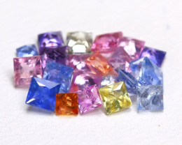 2.20Ct Princess Natural Untreated Fancy Color Sapphire Lot B5481