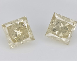 2/0.38 cts , Yellow Diamond , Polished Diamond