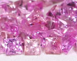 3.91Ct Princess Natural Untreated Vivid Pink Sapphire Lot B5417