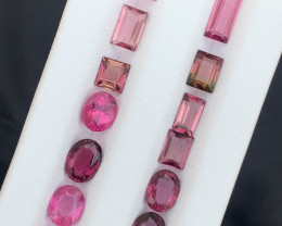 10.60 carats Rubellite/pink colour Tourmaline Gemstones parcel