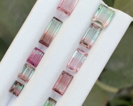 10.20 carats Bi-color Tourmaline Gemstone