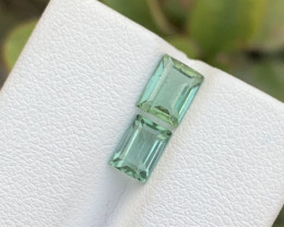 2.05 carats Transparent Bluish Green colour Tourmaline Gemstones