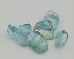 Aquamarine, 10ct lot, very clean gemstones, fine colour !!