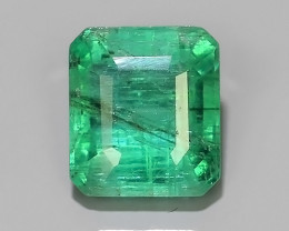 1.50 CTS NATURAL ZAMBIAN EMERALD UNHEATED  OCTAGON CUT~EXCELLENT!$220.00