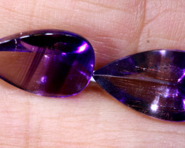 6.80 cts AMETHYST BI COLOUR FACETED PAIR PG-307