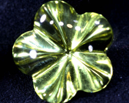 3 CTS  LEMON QUARTZ FLOWER CARVING PG-310