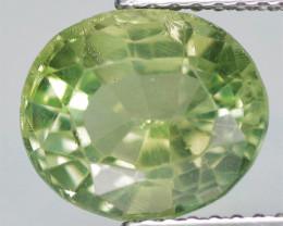 2.94 Cts Un Heated Natural Green Apatite Gemstone