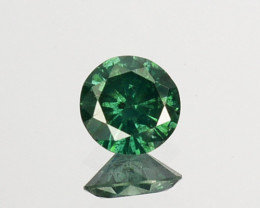 0.18Cts Natural Electric Green Diamond Fancy Round Cut 3.70mm  Africa