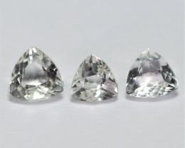 2.58 Carat 3 Pcs White Topaz Natural Gemstone