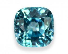 2.118 Cts Dazzling Lustrous Cambodian Blue Zircon