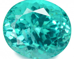 *No Reserve* Apatite 5.66 Cts Un Heated 11x7.66 mm Oval Natural Green Apati