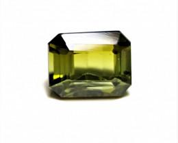 2.15Cts Natural Yellowish Green Color Eye Clean Emerald Cut Tourmaline -A