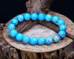 112.05Ct Natural Tibetan Turquoise Beads Bracelet B5696