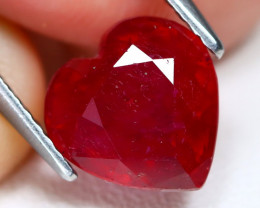 Red Ruby 3.56Ct Heart Cut Pigeon Blood Red Ruby AB5667