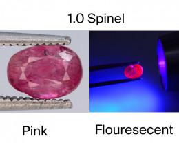 Top Cut 1.0 CT Dazzling Color Natural Florescent Spinel