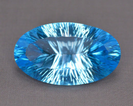 Amazing Laser Cut 49.95 Ct Natural Swiss Blue Color Topaz