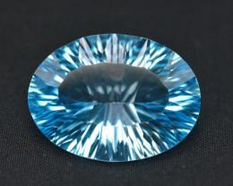 Amazing Laser Cut 23.40 Ct Natural Swiss Blue Color Topaz