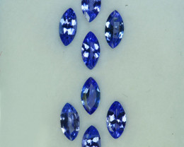2.10Cts Natural Purple Blue Tanzanite 6 X 3mm Marquise Tanzania