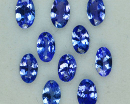 2.10 Cts Natural Purple Blue Tanzanite 5 X 3mm Oval Tanzania