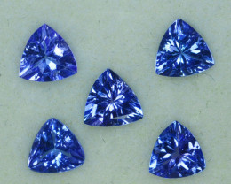 2.00Cts Natural Purple Blue Tanzanite 5mm Trillion Tanzania