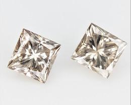 2/0.21 cts ,Loose Champagne Diamonds , Precious Diamonds