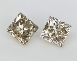 2/0.33 cts , Clear Brown Diamond , Loose Color Diamond