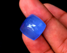 21.95 Carats Aquamarine Natural Cats eye Cabochon