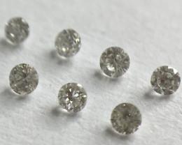 0.025ct 7 x F-I VVS-VS Round Brilliant Diamonds