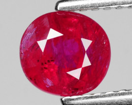 1.38 Cts Pinkish Red Natural Ruby BURMA  Loose Gemstone