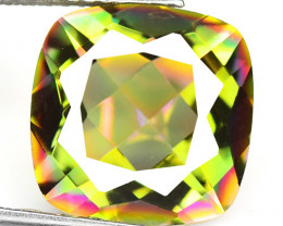 5.57 Cts Rare Fancy White Rainbow Color Natural Mystic Topaz