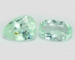 *No Reserve* Paraiba Tourmaline 0.66 Cts 2pcs Natural Blue Green Copper Bea