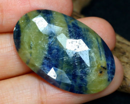 Unheated 34.17Ct Natural Untreated Blue Sapphire AB5707