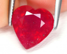Red Ruby 2.88Ct Heart Cut Pigeon Blood Red Ruby AB5737