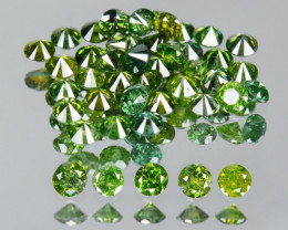 0.35 Cts Sparkling Rare Fancy  Green Color Natural Loose Diamonds