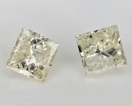 2/0.23 cts , Light White Colored Diamond , Unique Diamonds