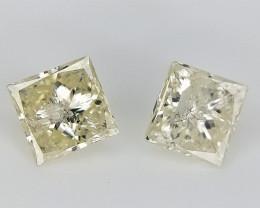 2/0.35 cts , Off White Diamonds ,Fancy Shaped Diamonds